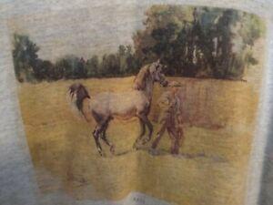 Arab Horse Grey Hoodie Size XL