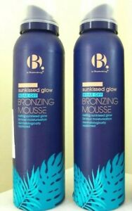 2 X B BY SUPERDRUG SUNKISSED GLOW WEAR OFF BRONZING  MOUSSE 150ML FACE BODY