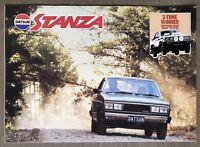 1981 Datsun Stanza original Australian sales brochure