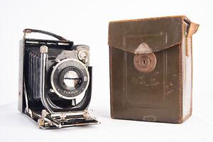 Kodak 33 9x12 Folding Plate Camera with Anastigmat 130mm f/4.5 Lens & Case V10