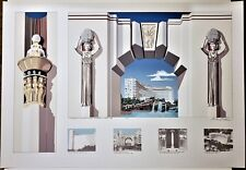 RICHARD HAAS Fontainebleau Hotel Miami Beach '89 PENCIL SIGNED SILKSCREEN 85/100