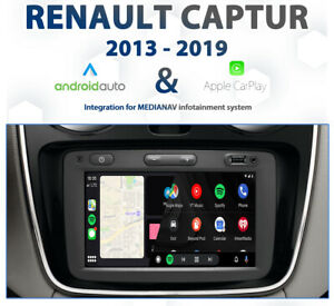 Renault Captur 2013 - 2019 Apple CarPlay & Android Auto Integration for MediaNAV
