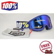 100% PERCENT BRAND STRATA GOGGLES MX ATV MOTOCROSS MOTO HOPE BLUE W/ MIRROR