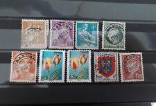 Lot série 9 timbres preoblitere france
