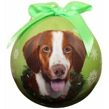 Brittany Spaniel Shatterproof Ball Dog Christmas Ornament