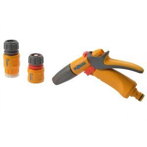 Hozelock 2348 Garden Hose Jet Spray Sprayer Gun Starter Kit - 3 Pieces