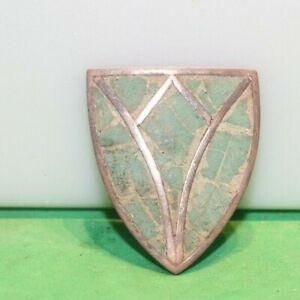 Vintage Sterling Native American Bolo Tie Shield Mexico Inlaid 9.3 Grams