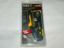 Klein Tools VDV226-110 Pass-Thru Modular Crimper - Yellow/Black