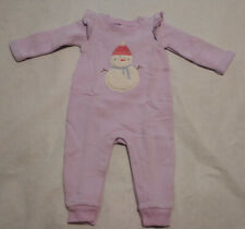 NWT Baby Gap Snowman Cozy One Piece Sweatshirt Romper Baby Girl
