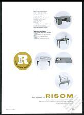 1953 Jens Risom modern revolving table chair desk sofa photo vintage print ad
