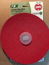 Ceramic Fiber Disc Sandpaper Resin Bonded Extra Coarse 36-Grit 7 X 7 Inch 2-Pack