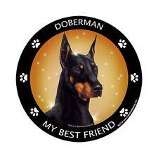 My Doberman Pinscher Black Is My Best Friend Dog Car Magnet