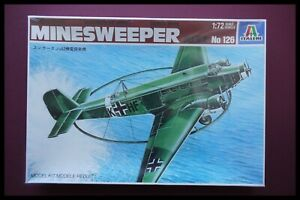 RARE ITALERI MINESWEEPER Junkers Ju52 1:72 Model Kit
