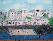 """""""Olímpicos Voleibol"""" Norte Arte gran Pintura Al Óleo Original De John Goodlad"""