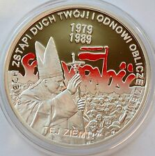 10 Zlotych, 2009 Poland, John Paul II, Solidarity The election of 4th June 1989