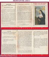 A221 SANTINO HOLY CARD SANTA S. RITA DA CASCIA DEGLI IMPOSSIBILI NOVENA