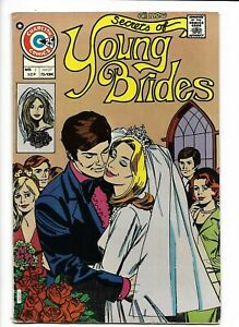 Secrets of Young Brides #2 Charlton romance 1975 FN 6.0 Frank Bolle cover.