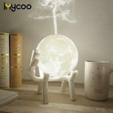 Ultrasonic Moon Air Humidifier Aroma Essential Oil Diffuser USB LED Night Lamp