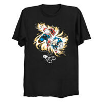 Console War Fighters Sonic The Hedgehog x Mario Plumber Black T-Shirt S-6XL