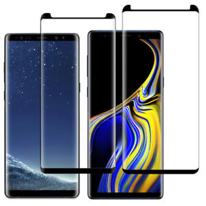 Poetic Premium Tempered Glass Screen Protector For Galaxy Note 9 / 8 Cover Black
