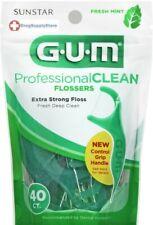 GUM Professional Clean Mint Flossers 40 Counts #891J