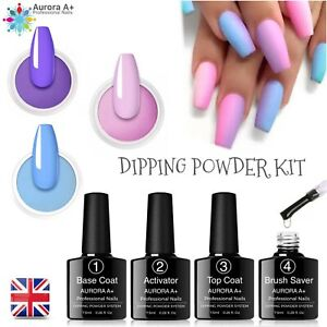 Nail Dipping Powder Acrylic System Dry Fast 7 piece set professional Starter Kit