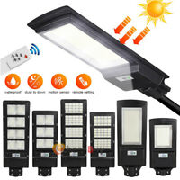 900000LM Commercial LED Solar Street Light IP67 Dusk-Dawn Road Lamp+Remote+Pole