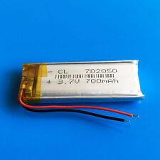 700mAh Li Po Polymer Li ion Battery 3.7v for MP4 DVD GPS Camera Recorder 702050