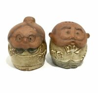 Retro Vintage Gempo Pottery Grandpa Grandma Salt & Pepper Shakers Made In Japan