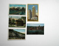LOT OF 5 PITTSBURGH PA ANTIQUE POSTCARDS BRIDGE INCLINE FED RESERVE BANK  ETC