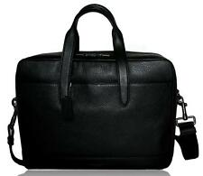 Coach F27617 Men's Leather Hamilton Briefcase Crossbody Laptop Bag Black