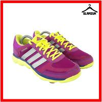Adidas Women LA Runner Trainers UK 7 / 40 Running Sneakers Gym Purple Neon