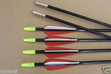 6Pcs 25'' Archery Fiberglass Arrow for Youth Child Recurve Bow Target Practice
