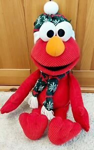 Large 23 Inch Elmo Sesame Street Soft Toy Christmas Plush 2008 - GUND