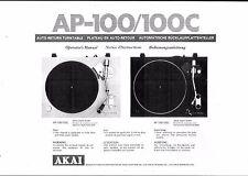 AKAI manuale di istruzioni user manual operatore'S MANUAL PER AP - 100/c