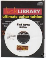 Lick Library Hank Marvin Guitar Jamtrax Jam Trax CD Learn APACHE FBI Playalong