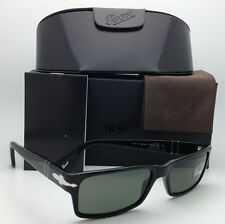 New Polarized PERSOL Sunglasses 2747-S 95/48 57-16 Black Frame w/ Crystal Green
