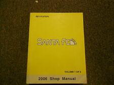 2006 HYUNDAI SANTA FE Service Repair Shop Manual FACTORY  VOL 1 BOOK 06 Hyundai