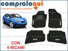 2 RICAMI TOP 2008/> TAPPETINI AUTO SU MISURA IN MOQUETTE PER SEAT IBIZA 4