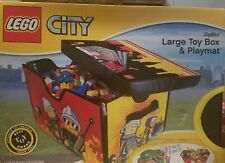 LEGO CITY ~ZIPBIN STORAGE & PLAY LARGE TOY BOX AND PLAYMAT  pre-owned NO LID bin