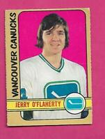 1972-73 OPC # 278 CANUCKS GERRY OFLAHERTY  ROOKIE  HIGH # GOOD  (INV# D0809)