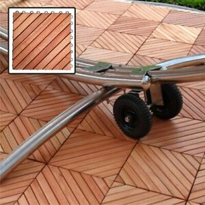 Vifah-12 Diagonal Slat Eucalyptus Interlocking Deck Tile
