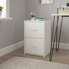 Ameriwood Home Canal 2 Drawer Letter Sized File Cabinet White Color Storage New