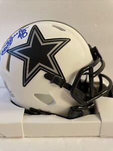 Daryl Johnston Signed  Eclipse Mini Helmet Beckett COA Dallas Cowboys Moose