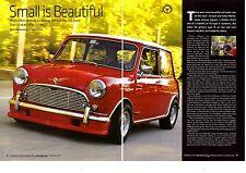 1960 MINI-MINOR 850 DE LUXE  ~  GREAT 6-PAGE ARTICLE / AD
