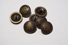 8pc 20mm bronce oscuro en metal inspirado en ruso alemán Blazer Cárdigan Botón 2853