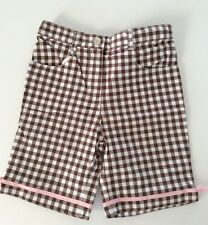 NWOT ICE CREAM SOCIAL 🍦Line Brown And White Checked Bermuda Shorts 4T