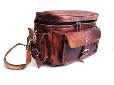 Vintage Leather Big Camera DSLR Padded Digital Camera Bag for Sony Canon Kodak