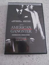 American Gangster DVD Denzel Washington Russell Crowe Unrated Extended Edition