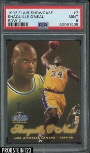 1997-98 Flair Showcase Row 2 #7 Shaquille O'Neal Lakers HOF PSA 9 MINT